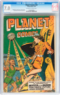 Golden Age (1938-1955):Science Fiction, Planet Comics #59 (Fiction House, 1949) CGC FN/VF 7.0 Off-white towhite pages....
