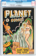 Golden Age (1938-1955):Science Fiction, Planet Comics #56 (Fiction House, 1948) CGC VF- 7.5 Off-white towhite pages....