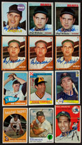Baseball Cards:Autographs, Signed 1950's-1980's Baseball Stars and HoFers Card Collection (12). ...