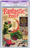 Silver Age (1956-1969):Superhero, Fantastic Four #1 (Marvel, 1961) CGC Apparent GD- 1.8 Slight (C-1) Off-white pages....