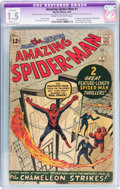 Silver Age (1956-1969):Superhero, The Amazing Spider-Man #1 (Marvel, 1963) CGC Apparent FR/GD 1.5 Slight (C-1) Cream to off-white pages....
