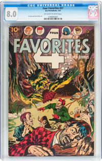 Four Favorites #27 (Ace, 1947) CGC VF 8.0 Off-white to white pages