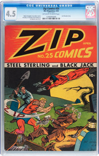 Zip Comics #25 (MLJ, 1942) CGC VG+ 4.5 Off-white to white pages