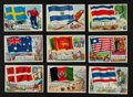 "Non-Sport Cards:Sets, 1956 Topps ""Flags Of The World"" Partial Set (57/80). ..."