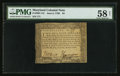 Colonial Notes:Maryland, Maryland June 8, 1780 $4 PMG Choice About Unc 58 Net.. ...