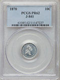 Patterns: , 1870 10C Standard Silver Ten Cents, Judd-841, Pollock-933, High R.7, PR62 PCGS. PCGS Population (2/1). ...