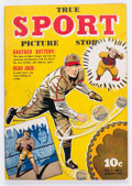 Golden Age (1938-1955):Non-Fiction, True Sport Picture Stories V2#2 Double Cover (Street & Smith,1943) Condition: NM-....