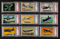Non-Sport Cards:Sets, 1952 Topps Wings Partial Set (116/200). ...