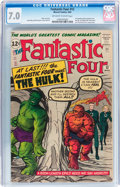 Silver Age (1956-1969):Superhero, Fantastic Four #12 (Marvel, 1963) CGC FN/VF 7.0 Off-white to white pages....