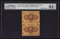Fractional Currency:First Issue, Fr. 1230 5¢ First Issue Vertical Pair PMG Choice Uncirculated 64EPQ.. ...