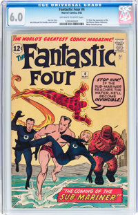 Fantastic Four #4 (Marvel, 1962) CGC FN 6.0 Off-white to white pages