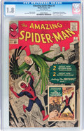 Silver Age (1956-1969):Superhero, The Amazing Spider-Man #2 (Marvel, 1963) CGC GD- 1.8 Cream to off-white pages....
