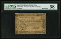Colonial Notes:South Carolina, South Carolina December 23, 1776 $2 PMG Choice About Unc 58Remainder.. ...
