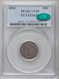Bust Dimes: , 1814 10C STATESOF VF30 PCGS. CAC. PCGS Population (5/12). ...