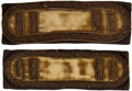Military & Patriotic:Civil War, Variant Round Border Civil War Cavalry Captain's Shoulder Straps....