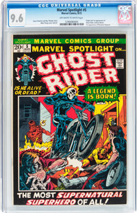 Marvel Spotlight #5 Ghost Rider (Marvel, 1972) CGC NM+ 9.6 Off-white to white pages