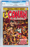 Bronze Age (1970-1979):Superhero, Conan the Barbarian #24 (Marvel, 1973) CGC VF+ 8.5 White pages....