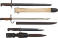 Edged Weapons:Bayonets, Lot of Three WWII Bayonets.... (Total: 3 )