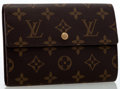 Luxury Accessories:Bags, Louis Vuitton Classic Monogram Canvas Trifold Wallet. ...