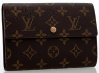 Louis Vuitton Classic Monogram Canvas Trifold Wallet