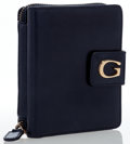Luxury Accessories:Accessories, Gucci Navy Leather Zip Wallet. ...