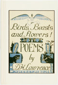 Books:Literature 1900-up, D.H. Lawrence. Birds, Beasts and Flowers! Poems by D.H. Lawrence. Santa Rosa: Black Sparrow Press, 1992. Limited edi...