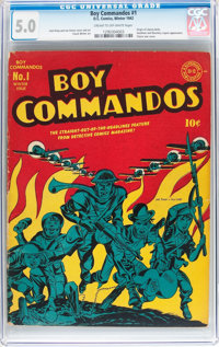 Boy Commandos #1 (DC, 1942) CGC VG/FN 5.0 Cream to off-white pages