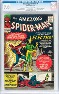 Silver Age (1956-1969):Superhero, The Amazing Spider-Man #9 (Marvel, 1964) CGC FN/VF 7.0 Off-white to white pages....