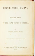 Books:Literature Pre-1900, Harriet Beecher Stowe. Uncle Tom's Cabin; or, Negro Life in theSlave States of America. London: Clarke and Co., 185...
