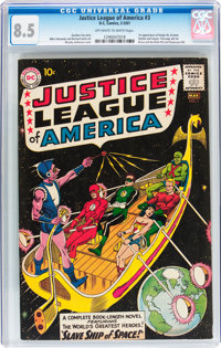 Justice League of America #3 (DC, 1961) CGC VF+ 8.5 Off-white to white pages