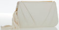 Luxury Accessories:Bags, Judith Leiber White Lizard Evening Bag. ...