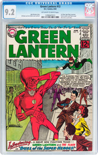 Green Lantern #13 (DC, 1962) CGC NM- 9.2 Off-white to white pages
