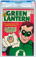 Silver Age (1956-1969):Superhero, Green Lantern #10 (DC, 1962) CGC NM- 9.2 Off-white to white pages....