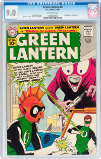 Green Lantern #6 (DC, 1961) CGC VF/NM 9.0 Off-white pages