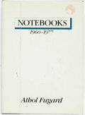 Books:Biography & Memoir, [South Africa]. Athol Fugard. Notebooks 1960-1977. New York: Alfred A. Knopf, 1984. First American edition (stated)....