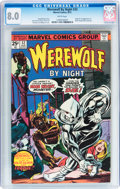 Bronze Age (1970-1979):Horror, Werewolf by Night #32 (Marvel, 1975) CGC VF 8.0 White pages....