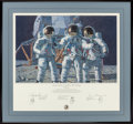 Movie/TV Memorabilia:Autographs and Signed Items, Alan Bean. Conrad Gordon, and Bean--The Fantasy. 24 x 15...
