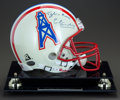 Movie/TV Memorabilia:Autographs and Signed Items, Houston Oilers Football Helmet Autographed by Earl Campbell...