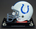 Movie/TV Memorabilia:Autographs and Signed Items, Baltimore Colts Football Helmet Autographed by Johnny Unitas...