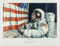 Movie/TV Memorabilia:Autographs and Signed Items, Alan Bean. Straightening Our Stripes. 27 x 17...