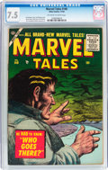 Golden Age (1938-1955):Science Fiction, Marvel Tales #140 (Atlas, 1955) CGC VF- 7.5 Off-white to whitepages....
