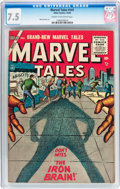 Golden Age (1938-1955):Science Fiction, Marvel Tales #141 (Atlas, 1955) CGC VF- 7.5 Cream to off-whitepages....