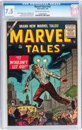 Golden Age (1938-1955):Science Fiction, Marvel Tales #142 (Atlas, 1956) CGC VF- 7.5 Cream to off-whitepages....