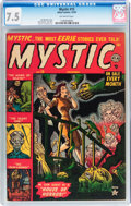 Golden Age (1938-1955):Horror, Mystic #15 (Atlas, 1952) CGC VF- 7.5 Off-white pages....