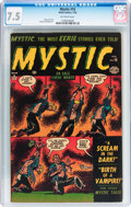 Golden Age (1938-1955):Horror, Mystic #16 (Atlas, 1953) CGC VF- 7.5 Off-white pages....