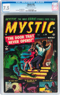 Golden Age (1938-1955):Horror, Mystic #20 (Atlas, 1953) CGC VF- 7.5 Cream to off-white pages....