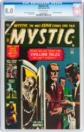 Golden Age (1938-1955):Horror, Mystic #23 (Atlas, 1953) CGC VF 8.0 Off-white pages....