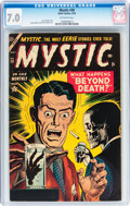 Golden Age (1938-1955):Horror, Mystic #30 (Atlas, 1954) CGC FN/VF 7.0 Off-white pages....