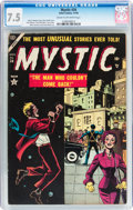 Golden Age (1938-1955):Horror, Mystic #34 (Atlas, 1954) CGC VF- 7.5 Cream to off-white pages....