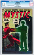 Golden Age (1938-1955):Horror, Mystic #35 (Atlas, 1955) CGC FN/VF 7.0 Cream to off-white pages....